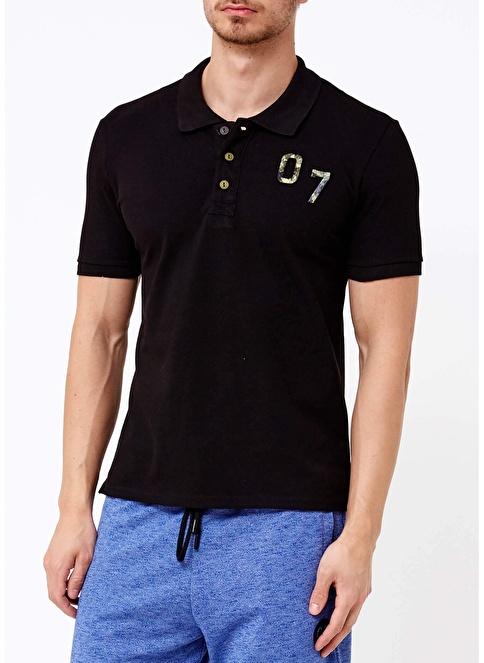 Phazz Brand Polo Yaka Tişört Siyah